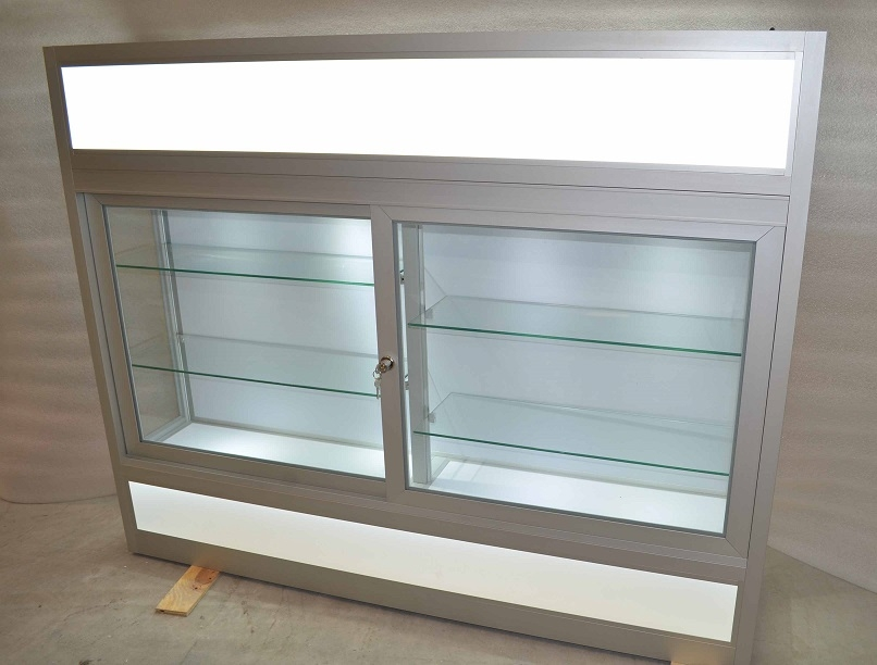 Glass wall mounted display cabinet custom display cabinets - Custom display cabinets ...